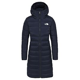 The North Face Stretch Down parka outdoor jack dames urban navy