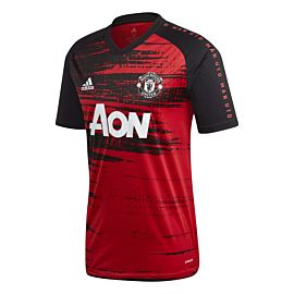 adidas Manchester United pre-match voetbalshirt heren real red black