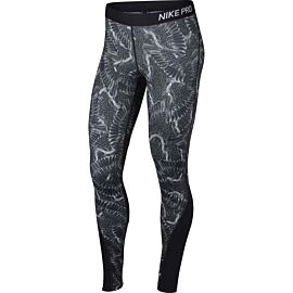Nike Print Chain Feather Tight fitnessbroek dames wolf grey black