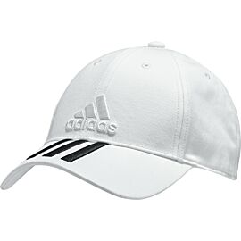 Adidas Six Panel Classic 3 Stripes pet white