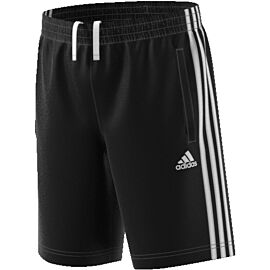 adidas Essentials 3-stripes knit short junior black white
