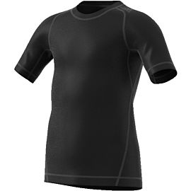 adidas Alphaskin Sport Short Sleeve shirt heren black