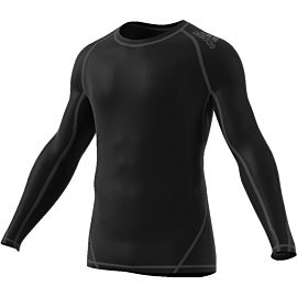 Adidas Alphaskin Sport Long Sleeve shirt heren black