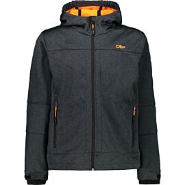 CMP Melange softshell jas junior graffite melange orange