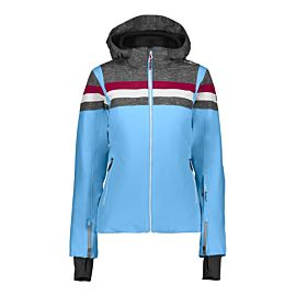 CMP Woman Jacket Zip Hood 38W0806 winterjas dames blue jewel