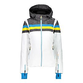 CMP CMP Woman Jacket Zip Hood 38W0806 winterjas dames bianco