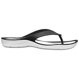 Crocs Swiftwater Flip slippers dames black white