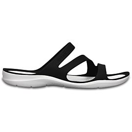 Crocs Swiftwater slippers dames black white
