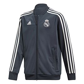 Adidas Real Madrid jack junior tech onix white schuin