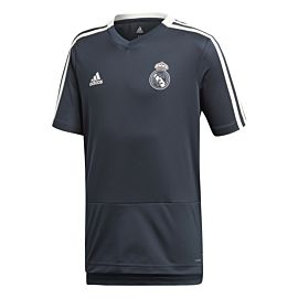 adidas Real Madrid trainingsshirt junior tech onix white