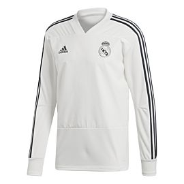 Adidas Real Madrid trainingstrui white tech onix schuin