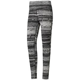 Reebok Lux Striped sportlegging dames black