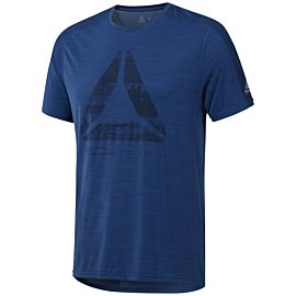Reebok ACTIVCHILL Graphic Move shirt heren bunker blue