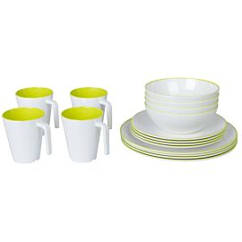 Bardani Darwin 16-delig campingservies set lime