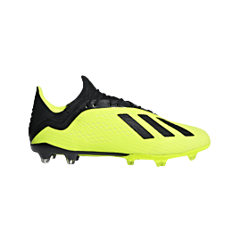 adidas X 18.2 FG DB2180 voetbalschoenen heren solar yellow core black footwear white