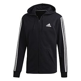 adidas Must Haves 3S Full Zip French terry Hoody vest heren black