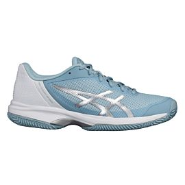 ASICS Gel-Court Speed Clay tennisschoenen dames porcelain blue silver white