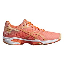 ASICS Gel-Solution Speed 3 Clay L.E. tennisschoenen dames flash coral canteloupe apricot ice