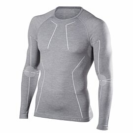 Falke Longsleeved Wool-Tech thermoshirt heren grey heather