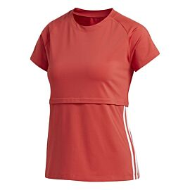 adidas 3-Stripes shirt dames glory red