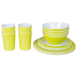 Bardani Goblin 16-delig campingservies set lime