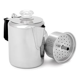 GSI Outdoors Glacier Stainless percolator 3 kops