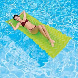 Intex Tote-n-Float Wave luchtbed geel