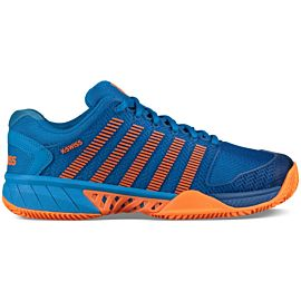K-Swiss Hypercourt Express HB 83378 tennisschoenen junior brilliant blue neon orange
