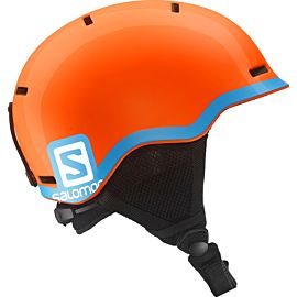 Salomon Grom skihelm junior fluor orange blue