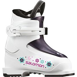 Salomon T1 Girly skischoenen junior white rose violet translucent