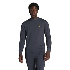 Lyle & Scott Crew Neck Sleeve Taping sweater heren observer grey
