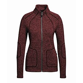 Maier Sports Iva Inzip fleece vest dames red dahlia