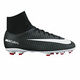 Nike Mercurial Victory VI Dynamic Fit FG 903600 voetbalschoenen junior black university red white