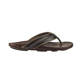 OluKai Mea Ola slippers heren dark shadow mustang