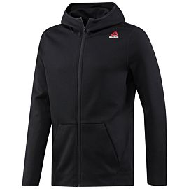 Reebok Quick Cotton Hoodie vest heren black