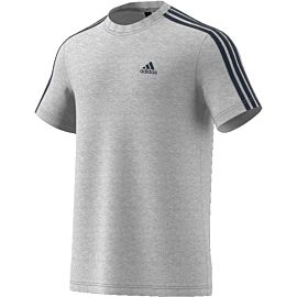 Adidas Essentials 3-stripes shirt heren grey
