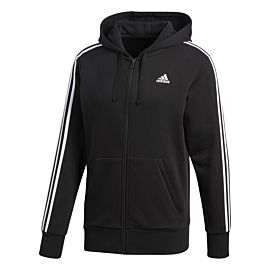 Adidas Essentials 3-stripes Full Zip Hoodie vest heren black