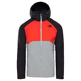 The North Face Stratos outdoor jack heren mid gray fiery red