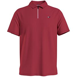 Tommy Hilfiger Stripe Training polo heren primary red voorkant