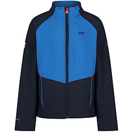 Regatta Varro softshell jack junior navy skydive blue