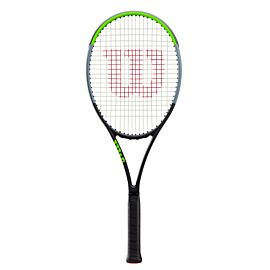 Wilson Blade 98 16X19 V7 tennisracket lime green black silver elastic