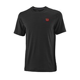 Wilson UW II Linear Crew tennisshirt heren black pro staff red voorkant