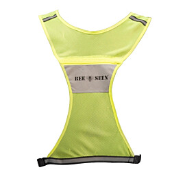 bee sports reflective vest lime