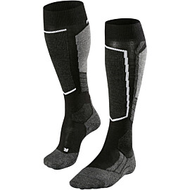 falke sk2 skisokken dames black grey white