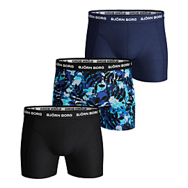 bjorn borg la leaf onderbroek heren blue depths 3-pack