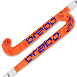 Brabo O'Geez hockeystick junior orange blue