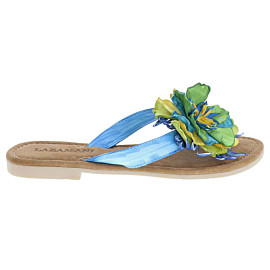 lazamani multi flower slippers dames blue