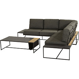 4 seasons outdoor patio 122 x 62 loungeset anthracite teak