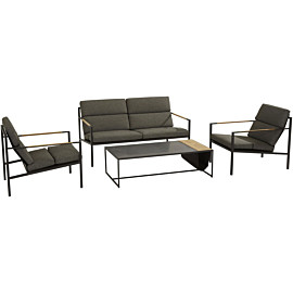 4 seasons outdoor trentino 122 x 62 loungeset anthracite