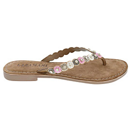 lazamani beads slippers dames silver